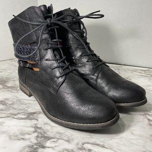 TORRID cut out faux leather moto boots 12 W